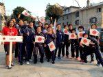 開会式に出る世界学生日本代表選手団