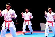 男子団体形日本代表のチーム沖縄