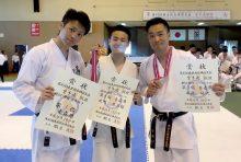 東北ミニ国団体組手で優勝した青森県のメンバー