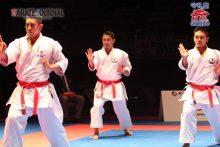 地元開催のプレミアリーグで3連覇のかかる団体形沖縄チーム