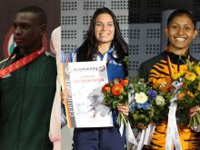 注目の選手たち左からタレグ・サラ・シャキーラ