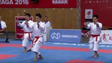 世界学生で優勝した帝京団体形チーム